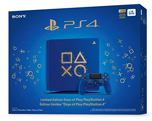 Playstation 4 Slim 2TB SSD Limited Edition Days of Play Blue Console with Controller Bundle Enhanced with Fast Solid… 1