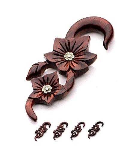 Organic Carved Flower Brass Gauges product image