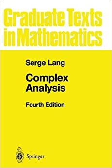 Book Complex Analysis (Graduate Texts in Mathematics) by Serge Lang (2010-02-19)