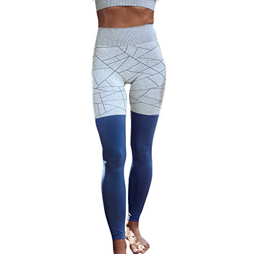- Women's Yoga Pants Workout Leggings Pull On Stretch Skinny Slim Sports Running Athletic Pants Blue