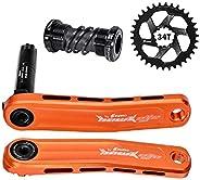 Unknows Bicycle Crankset MTB Crank 170mm Crank Arms Bicycle Chainring 30t 32t 34t 36t 38t Bike Chainrings Bicy