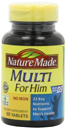Nature Made Multi For Him Vitamin and Mineral, 90 Tablets (Multivitamin Men Nature Made compare prices)