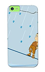 Flexible Tpu Back Case Cover For Iphone 5c - Funny Cartoon Picture Anime Backgorund
