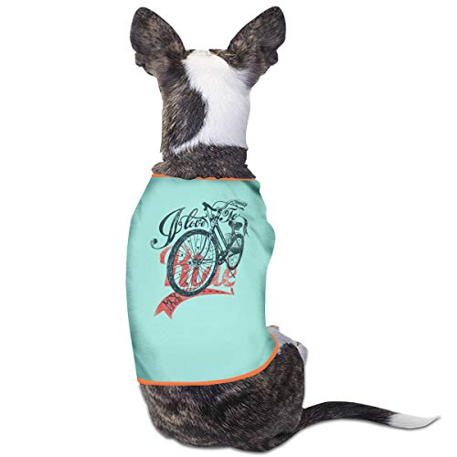 Puppy Dogs Shirts Costume Bicycle Riding Pets Clothing Warm Vest T-Shirt M]()