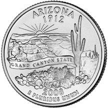 2008 P Arizona State Quarter Choice Uncirculated