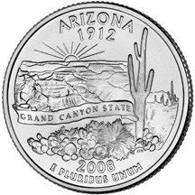 2008 P Arizona State Quarter Choice Uncirculated