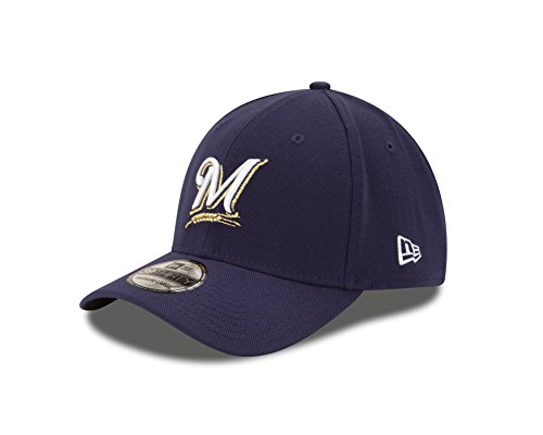 MLB Milwaukee Brewers Team Classic Game 39Thirty Stretch Fit Cap, Blue, Large/X-Large (Clothes Brewers Milwaukee)
