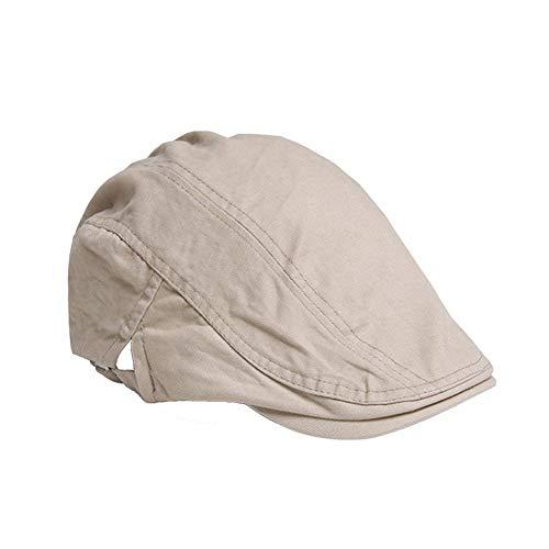 55-60cm Unisex Classical Style Cotton Hat Size Adjustable Newsboy Beret Ivy Cap Cabbie Flat Cap For Men& Women-1PC -