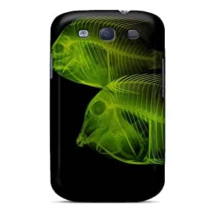 Durable X Ray Android Fish Back Case/cover For Galaxy S3