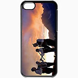 Personalized iPhone 5C Cell phone Case/Cover Skin Alpenspektakel Band Mountain Sunset Sky Black by supermalls