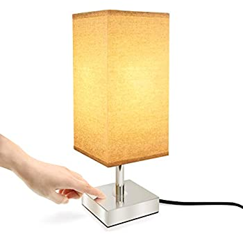 Touch Control Lamp Aooshine Minimalist Bedside Table