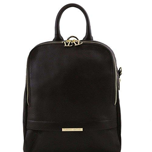 TUSCANY LEATHER - Bolso mochila de Piel para mujer negro negro Taille Unique