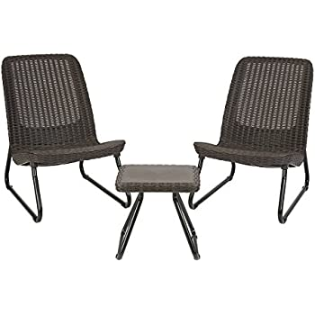 Delightful Keter Rio 3 Pc All Weather Outdoor Patio Garden Conversation Chair U0026 Table  Set Furniture,