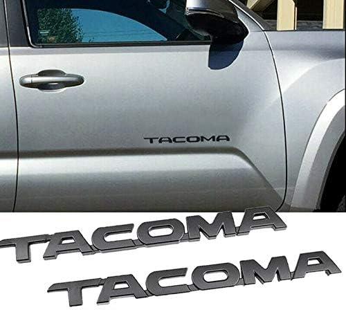 Nrpfell 4Pcs Set for Tacoma 4X4 V6 Trunk Car Door Tailgate Emblems Badge Decal for Tacoma Matte Black