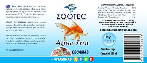 Zootec alimento en Escamas Agua fría 100 ML / 15 g: Amazon.es: Productos para mascotas