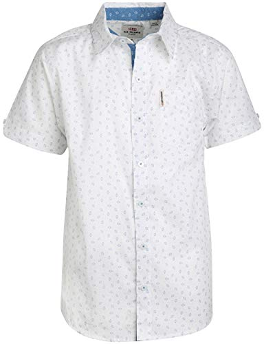Ben Sherman Boys Short Sleeve Button Down Shirt (White/Boxes, 8)' ()