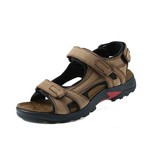 Gli Uomini Sono Sandali, Una Spiaggia Scarpe, Cuoio Outdoor Scarpe Da Uomo Di Colore: Brown, Cachi,Khaki,Eu40,
