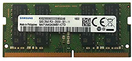 Samsung 32GB DDR4 2666MHz RAM Memory Module for Laptop Computers (260 Pin SODIMM, 1.2V) M471A4G43MB1 ()