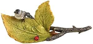 Top Collection Miniature Fairy Garden and Terrarium Little Bird and Ladybug on Leaves, Mini