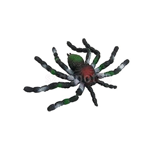 Super Soft Rubber Spider Model Toy Kids Zoo Collection Party Tricks Play Toy by uptogethertek