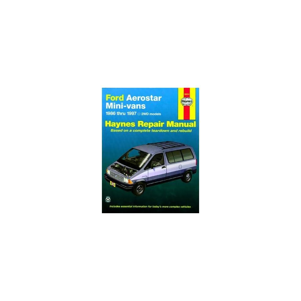 Ford Aerostar Mini Van Haynes Repair Manual (1986 1997)