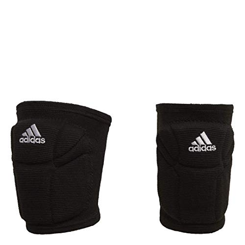 adidas womens Elite  Knee Pad, Black/White, Medium (Knee Volleyball Competition Pads)