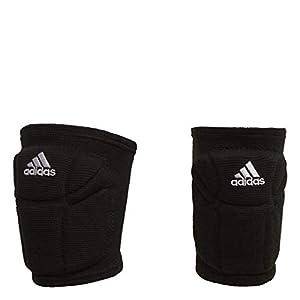 adidas Elite Volleyball Performance Knee Pads Compression Fit, Black/White, Medium