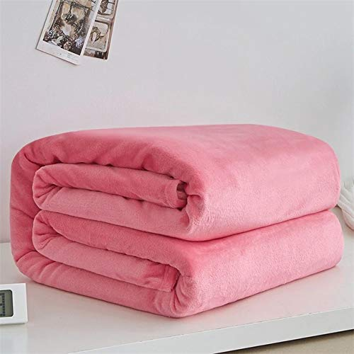 Cheap fumak Weighted Blanket - Soft Luxury Blanket Warm Coral Fleece Blanket Throw Thin Flannel Blankets Weighted Blacket for Adult (10 - DK Pink 50x70cm 20x28 Small) Black Friday & Cyber Monday 2019