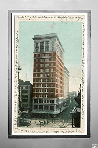 New York Map Company  Traction Building, Cincinnati, Ohio, 1903 Postcard Vintage Antique Fine Art Reproduction Photo |Size: 7x12|Ready to Frame