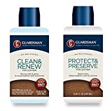 Guardsman Leather Care Bundle: Leather Cleaner and Leather Protector