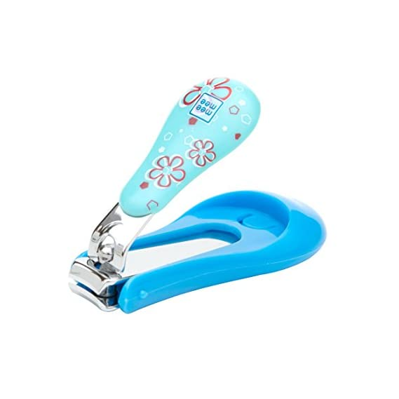 Mee Mee Protective Baby Nail Clipper Cutter with Skin Guard (Blue)