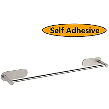 Amazoncom HOMEIDEAS 3M Self Adhesive Towel Bar 156 Inch Towel