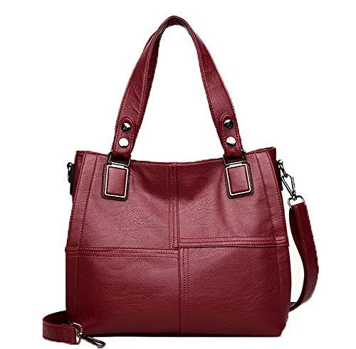 Rouge FBUFBD180916 Sacs à Mode fourre Vineux Zippers AllhqFashion Femme Pu tout bandoulière Sacs Cuir 7SPnqw8
