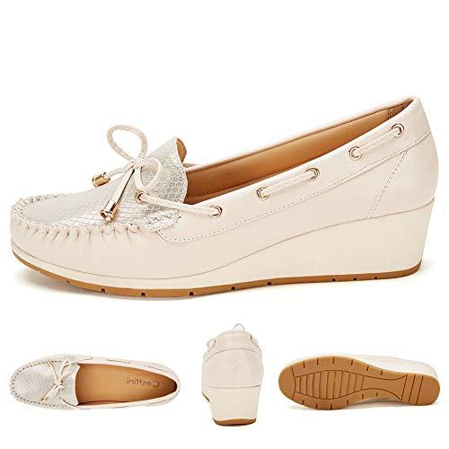 Pour Mesdames Cestfini Et Mocassins Femmes Plate Choix Beige Quotidienne Chaussures Confortables forme Le Travail Respirant Compensé L'usure Bateau Dames XqXSrv