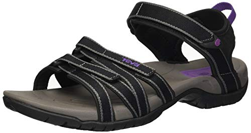 Teva Women's Tirra Sandal,Black/Grey,5.5 M US