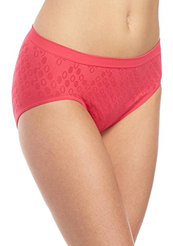 Barely There by Bali Women`s Comfort Revolution Microfiber Seamless Hipster