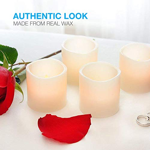 Vont Flameless LED Candles, Flickering, Battery Powered, Real Wax, Realistic Decor Unscented, 6 Pack, Yellow Light by Vont (Image #2)