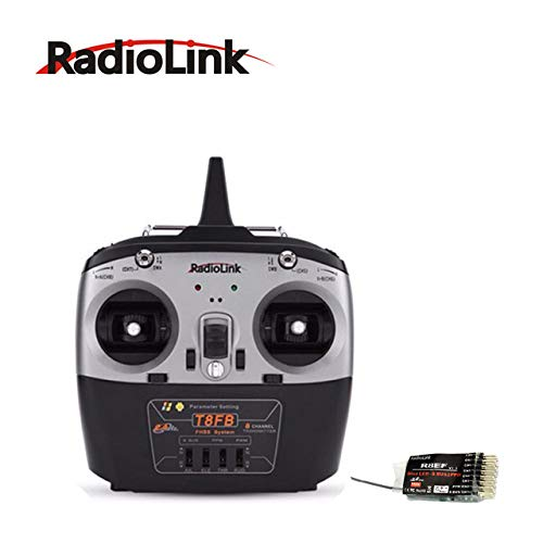 Part & Accessories RadioLink T8FB 2.4GHz 8CH Remote Controll Transmitter Supported by R8EF Receiver WIth ABS System FHSS Spread spectrum - (Color: T8FB and R8EF)