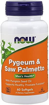 NOW Supplements, Pygeum & Saw Palmetto, 60 Softgels