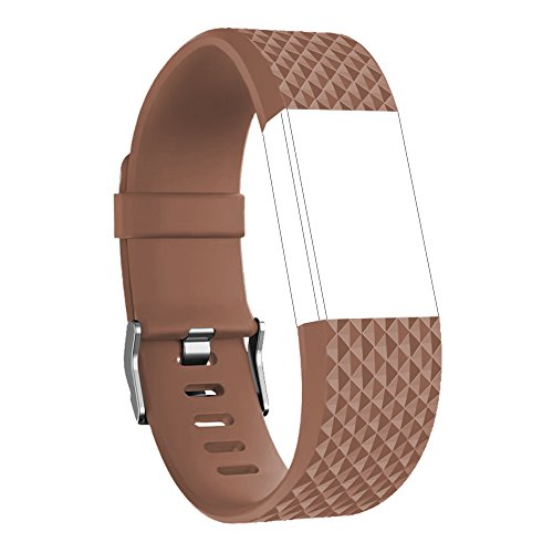 Brown Floral Band - RedTaro Replacement Bands for Fitbit Charge 2 Small Orange Brown(Diamond Edition)/Charge 2 Bands/Charge 2 Wristbands/Fitbit Charge 2 Bracelets/Charge 2 Straps/Fitbit Charge 2 Bands