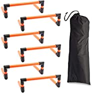 Agility Hurdles for Speed Training, Sports, Fitness (5.9 Inches, 6 Pack)
