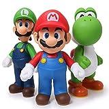 gelickA 3pcs/Set 13cm Super Mario Bros Luigi Mario Yoshi PVC Action Figures Toy
