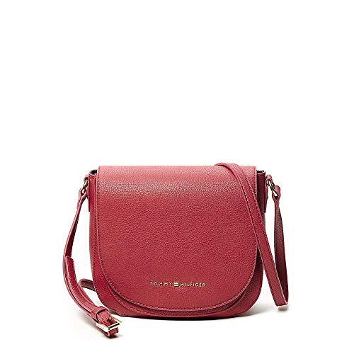 Tommy Hilfiger Women's Faux Lether Saddle Bag, Burgrundy