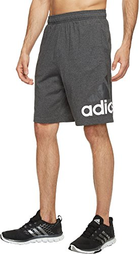adidas Men's Athletics Jersey Shorts, Dark Grey Heather, (Adidas Cotton Jersey)