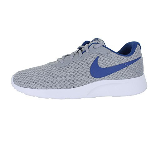 huge selection of a2349 e9ebc Galleon - NIKE Mens Tanjun Wolf Grey Gym Blue White Size 7