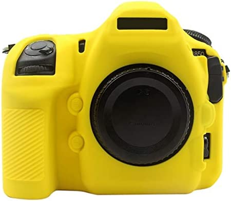 Camouflage KANEED Soft Silicone Protective Case for Nikon D850 Color : Yellow