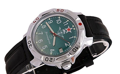 Vostok komandirskie military russian watch paratrooper vdv 2414 811307 buy online in uae for Komandirskie watches