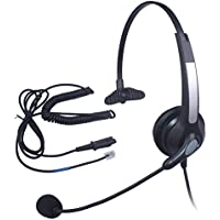 Audicom Mono Call Center Headset Headphone with Mic and Quick Disconnect for Plantronics M22 Amplifier and Cisco Unified Telephone IP Phones 7931G 7940G 7941G 7942G 7945G 7960G 7961G 7962G (300QDRJ2A)