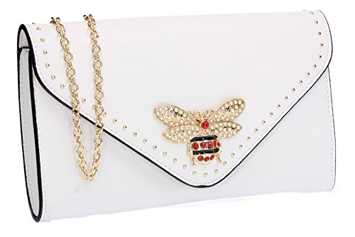 SWANKYSWANS Shannon Queen Bee Stud Party Prom Wedding Night Out Celebrity Ladies Purse Evening Clutch ()