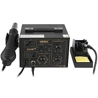 MVPOWER Estación de Soldadura Digital Ajustable con Pantalla LCD Control de Temperatura Electrónica 100℃-